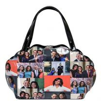 PA0047 The Obamas Décor Magazine Cover Picture Satchel Bag