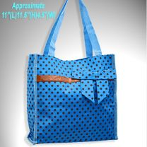 FABRIC-PLASTIC TOTE BAG