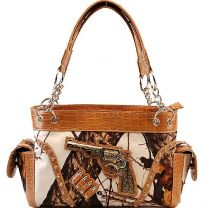 Concealed Carry Gun w/Bullets Mossy Oak Camo Handbag