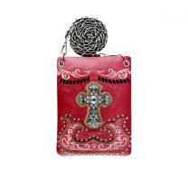 2030W191LCR WESTERN CROSS EMBROIDERY HIPSTER/CELL PHONE BAG WINE