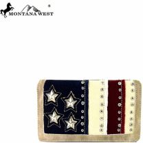 US10-W010 Montana West American Pride Collection Secretary Style Wallet