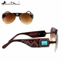 SGS-3706 Montana West Concho Collection Aviator Sunglasses