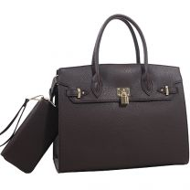 Jane Set Concealed Carry Lock and Key Satchel with Matching Wallet