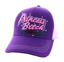 VM209-03 Princess Bitch Cotton Velcro Cap (Purple & Light Pink)