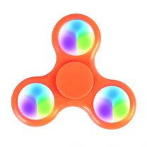 12pc LED LIGHT TRI FIDGET HAND SPINNER STRESS RELIEF DESK TOY