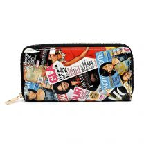WA0038 The Obamas Décor Magazine Printed Single Zip Around Wallet