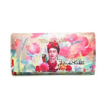 FK927 Authentic Frida Kahlo with Parrot in Flowers Tri Fold Wallet
