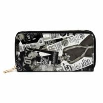 WA0039 The Obamas Décor Magazine Printed Single Zip Around Wallet