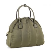 87819 QUILTED NYLON SATCHEL OLIVE