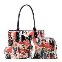 AA-7305W THE OBAMAS DéCOR MAGAZINE COVER 3-IN-1 TOTE BAG SET MULTI