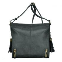 BGS8489 CONCEALED CARRY CROSSBODY MESSENGER BAG~CHARCOAL