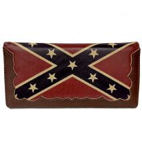 C-RB2-FLG LONG REBEL FLAG MENS WALLET