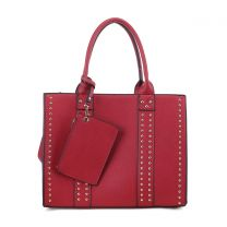 C4032L KATE FASHION CONCEALED CARRY LOCK and KEY SATCHEL w/COIN POUCH~RED