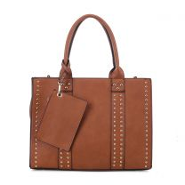 C4032L KATE FASHION CONCEALED CARRY LOCK and KEY SATCHEL w/COIN POUCH~TAN