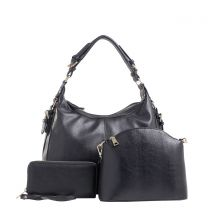 C514170LS CHLOE 3Pc CONCEALED CARRY HOBO SE w/MATCHING WALLET and CROSSBODY~BLACK