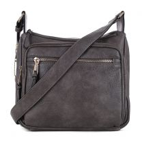 C5806 CONCEALED CARRY MULTIFUNCTION CROSSBODY BAG~GREY