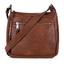 C5806 CONCEALED CARRY MULTIFUNCTION CROSSBODY BAG~TAN