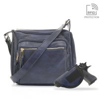 C5806L BROOKLYN CONCEALED CARRY MULTIFUNCTION CROSSBODY BAG~NAVY