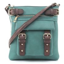 C8535L HANNAH CONCEALED CARRY CROSSBODY BAG~TURQUOISE