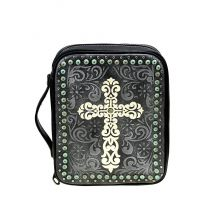 DC022-OT MONTANA WEST SPIRITUAL COLLECTION BIBLE COVER BLACK