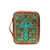 DC022-OT MONTANA WEST SPIRITUAL COLLECTION BIBLE COVER BROWN