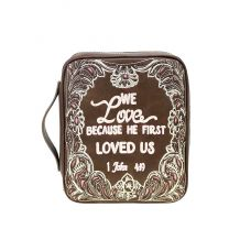 DC023-OT MONTANA WEST SCRIPTURE BIBLE VERSE COLLECTION BIBLE COVER COFFEE