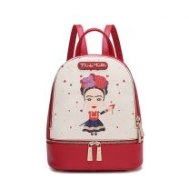 FA930 AUTHENTIC FRIDA KAHLO BACKPACK~RED