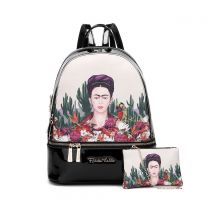 FC930L Authentic Frida Kahlo Cactus Series 2-in-1 Backpack Black