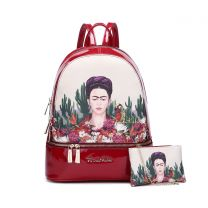 FC930L Authentic Frida Kahlo Cactus Series 2-in-1 Backpack Red