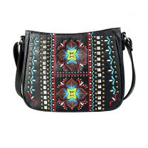 G603W160 CONCEALED CARRY WESTERN EMBROIDERED COLLECTION CROSSBODY~BLACK