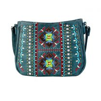 G603W160 CONCEALED CARRY WESTERN EMBROIDERED COLLECTION CROSSBODY~BLUE JEANS