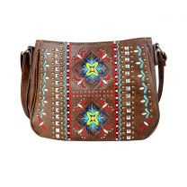 G603W160 CONCEALED CARRY WESTERN EMBROIDERED COLLECTION CROSSBODY~BROWN