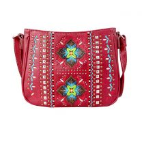 G603W160 CONCEALED CARRY WESTERN EMBROIDERED COLLECTION CROSSBODY~RED