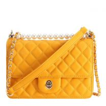 HY8589 QUILTED CROSSBODY BAG~YELLOW