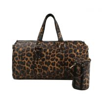 LF128 2-in-1 LEOPARD OVER SIZE TRAVEL DUFFEL BAG