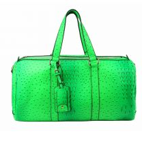 LF128 2-in-1 OSTRICH CROC OVER SIZE TRAVEL DUFFEL BAG~NEON GREEN