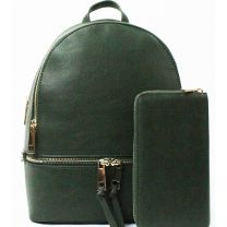 LP1062W 2-in-1 MULTI COMPARTMENT BACKPACK SET w/WALLET~OLIVE