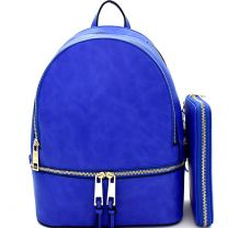 LP1062W 2-in-1 MULTI COMPARTMENT BACKPACK SET w/WALLET~ROYAL BLUE