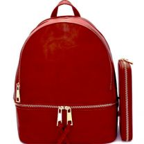 LP1062W 2-in-1 MULTI COMPARTMENT BACKPACK SET w/WALLET~RED