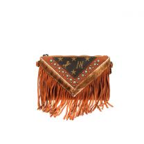 MW901-181 MONTANA WEST SIGNATURE MONOGRAM COLLECTION CLUTCH/CROSSBODY BROWN
