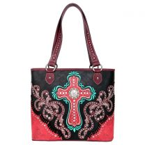 MW995G-8317 MONTANA WEST SPIRITUAL COLLECTION CONCEALED CARRY TOTE~BLACK