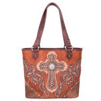 MW995G-8317 MONTANA WEST SPIRITUAL COLLECTION CONCEALED CARRY TOTE~BROWN