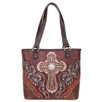 MW995G-8317 MONTANA WEST SPIRITUAL COLLECTION CONCEALED CARRY TOTE~COFFEE