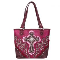 MW995G-8317 MONTANA WEST SPIRITUAL COLLECTION CONCEALED CARRY TOTE~PURPLE