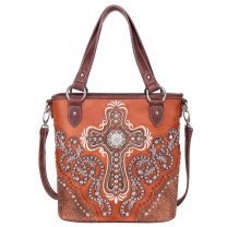 MW995G-8461 MONTANA WEST SPIRITUAL COLLECTION CONCEALED CARRY TOTE/CROSSBODY~BROWN