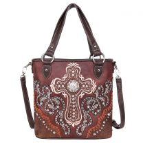 MW995G-8461 MONTANA WEST SPIRITUAL COLLECTION CONCEALED CARRY TOTE/CROSSBODY~COFFEE