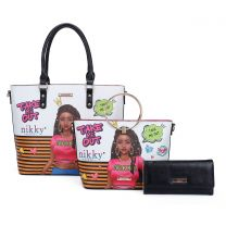 NK12002 NIKKY TAKE ME OUT TOTE BAG 3PC SET