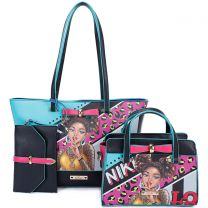 NK12033 NIKKY I HAVE A SECRET 3-in-1 SHOPPER TOTE