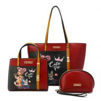 NK12100 NIKKY CUTIE PIE TOTE BAG 3PC SET