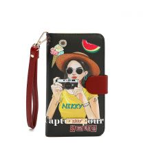 NK20303 NIKKY SATINE UNIVERSAL PHONE PRINT CASE~CAPTURE YOUR SMILE